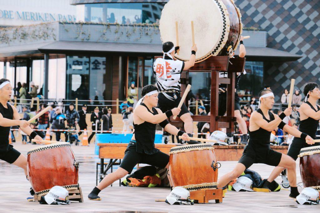 神戸市消防出初式 太鼓演奏
