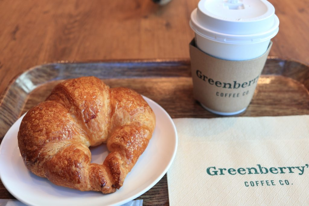 Greenberry's Coffee モーニング