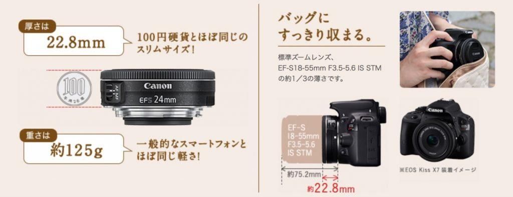 とても小さなEF-S24mm F2.8 STM