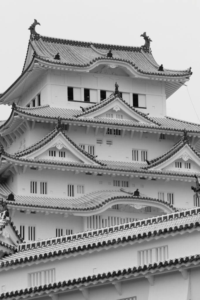 姫路城 モノクロ