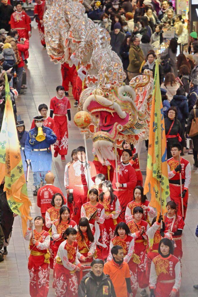 春節祭プレイベント 南龍游行