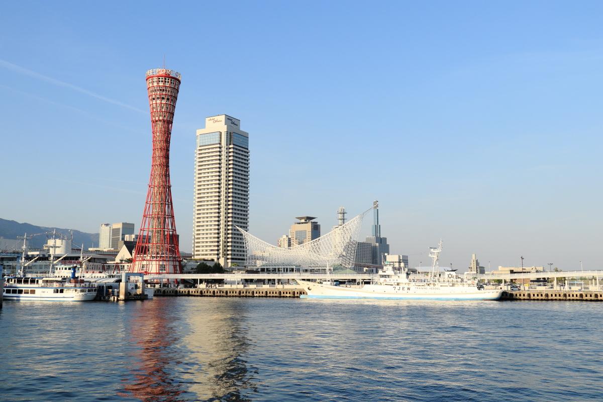神戸ハーバーランド・モザイク前からの景色