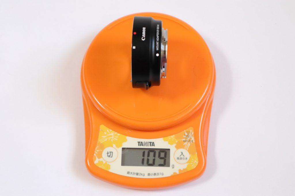キヤノン マウントアダプター EF-EOS M 質量