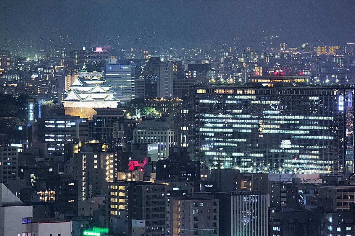 ヤフー大阪 富国生命ビルからの夜景