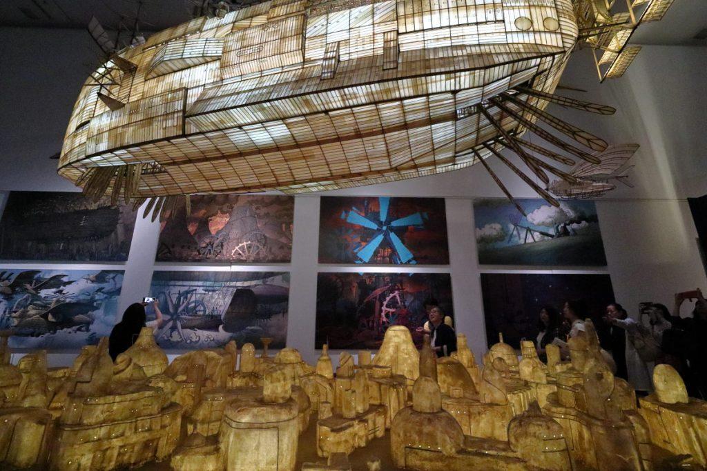 ジブリの大博覧会 天空の城ラピュタに登場する飛行船の展示