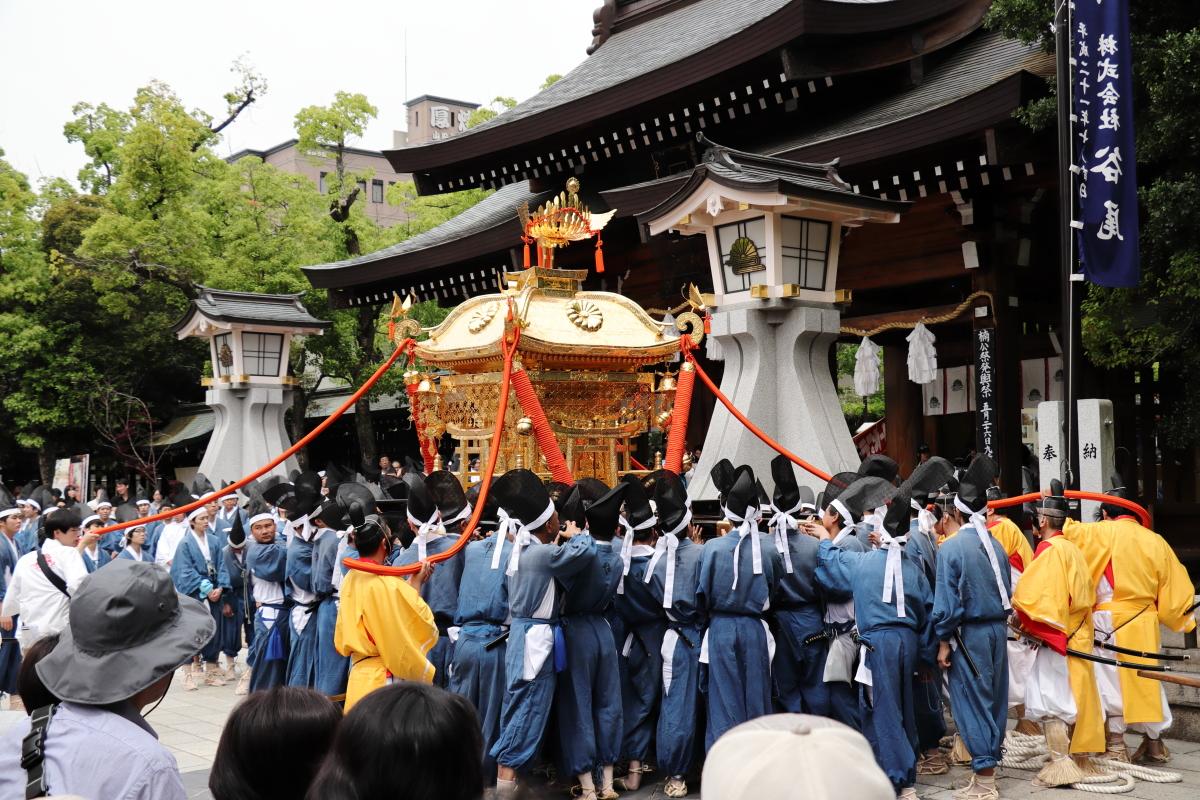 Musha Gyoretsu (Samurais Procession Festival)、MINATOGAWA JINJA