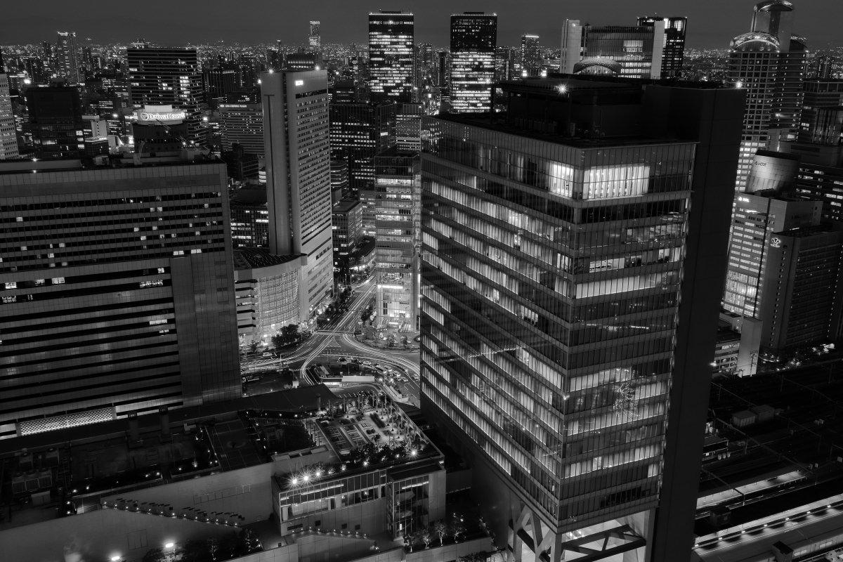 ヤフー大阪グランフロントオフィスからの夜景