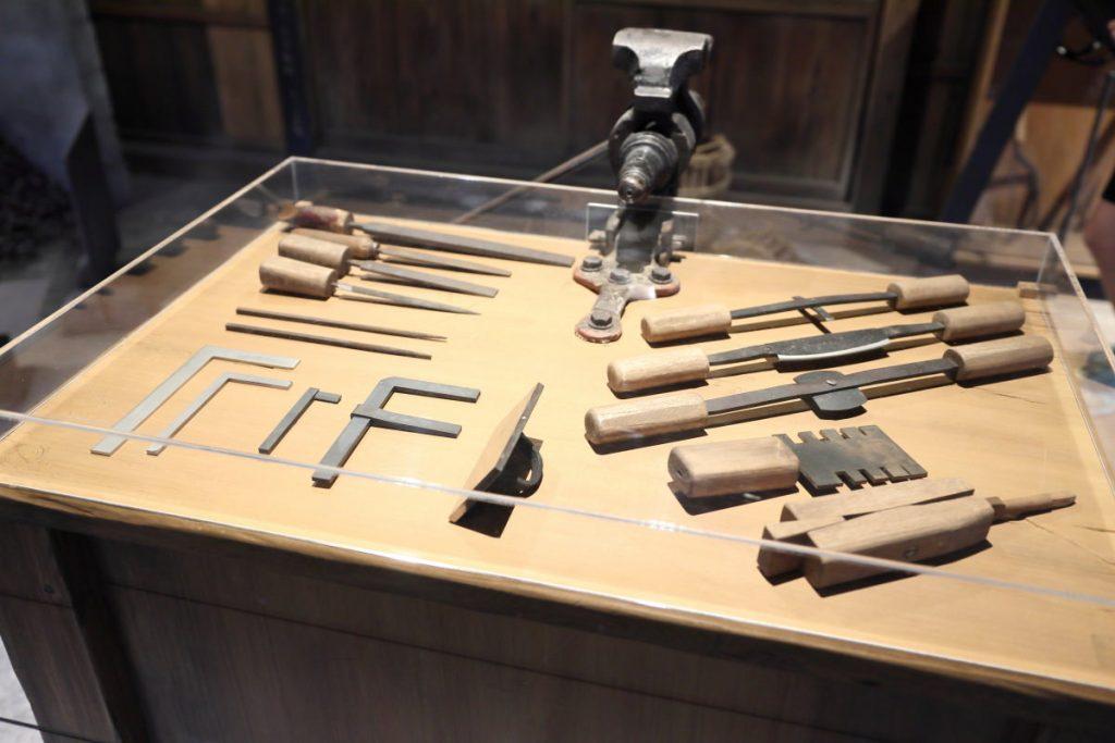 竹中大工道具館 大工道具の展示