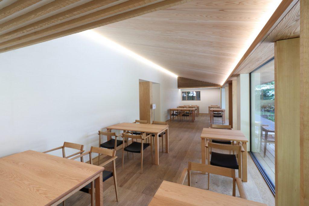 竹中大工道具館の休憩室