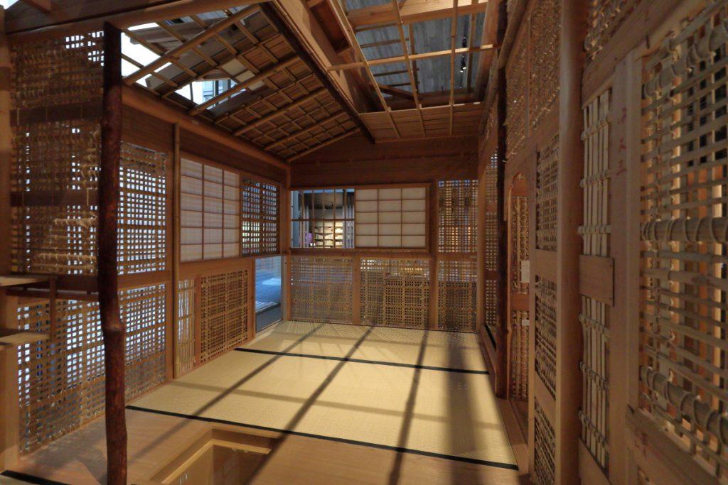 竹中大工道具館の茶室スケルトン模型