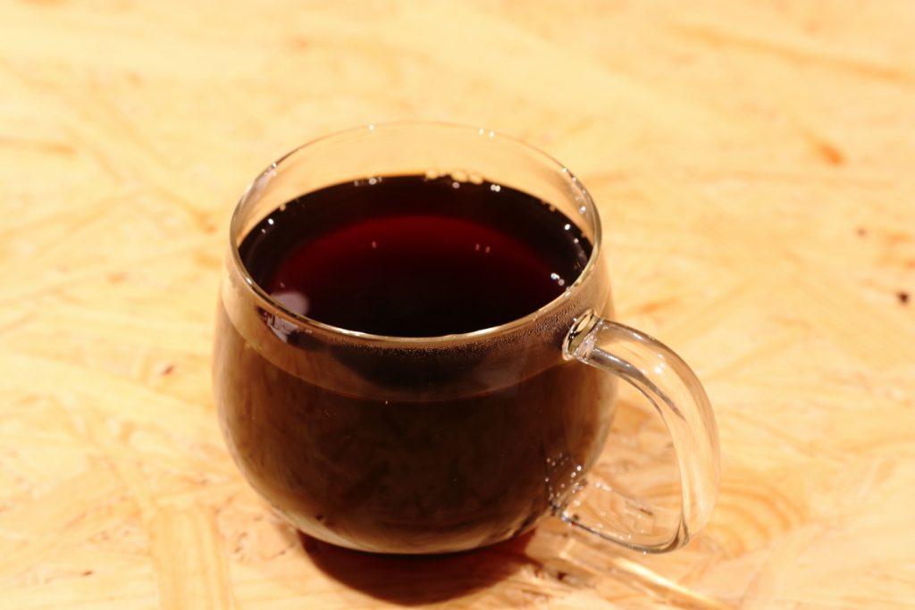 シングルオリジン 店内用のガラスマグカップ