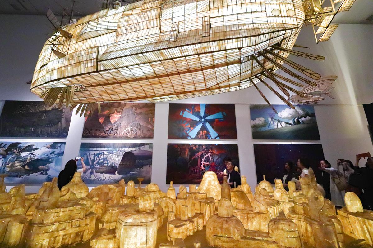 兵庫県立美術館「ジブリの大博覧会」より天空の城ラピュタの飛空挺