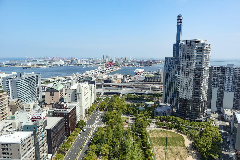 神戸市役所24階展望フロアからの眺め 海側