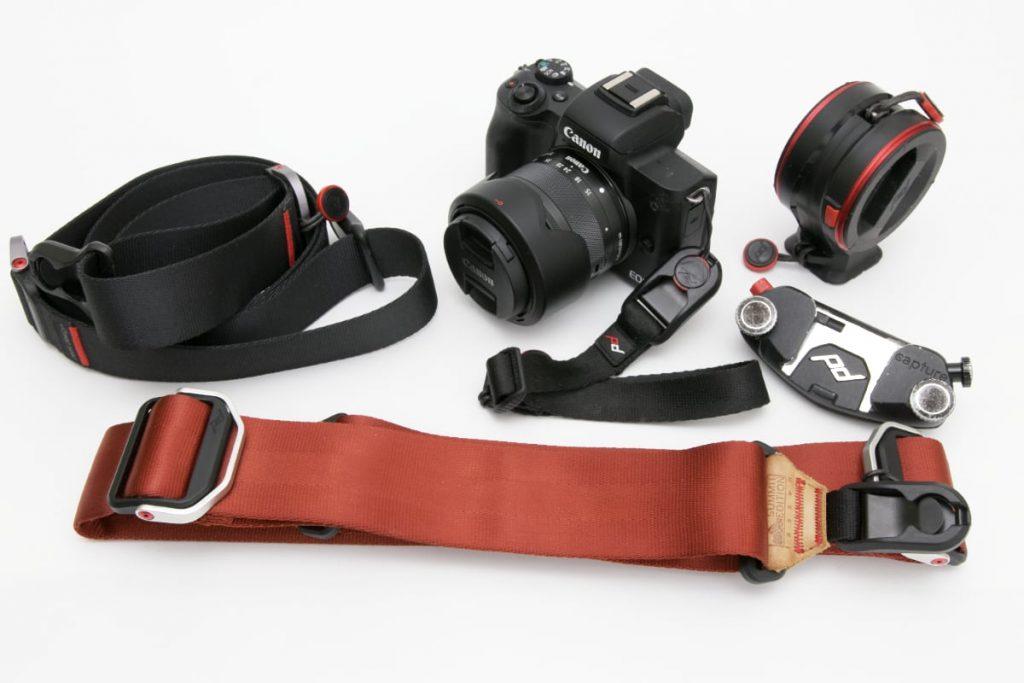 ピークデザイン製品の数々 カメラストラップやキャプチャーなど