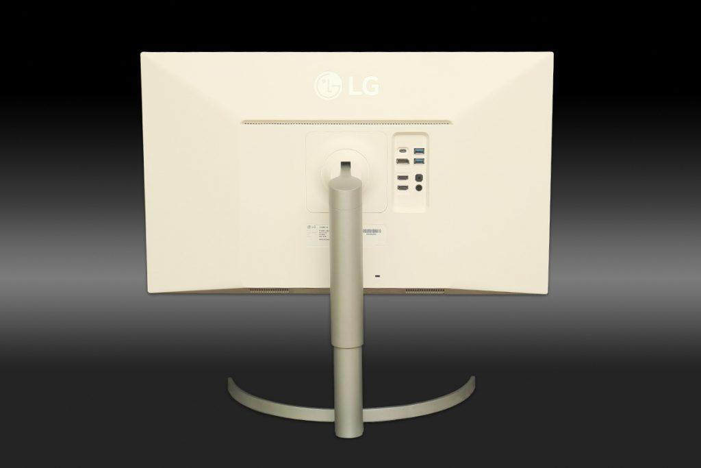 LGの4Kディスプレイ27UK850-W 背面