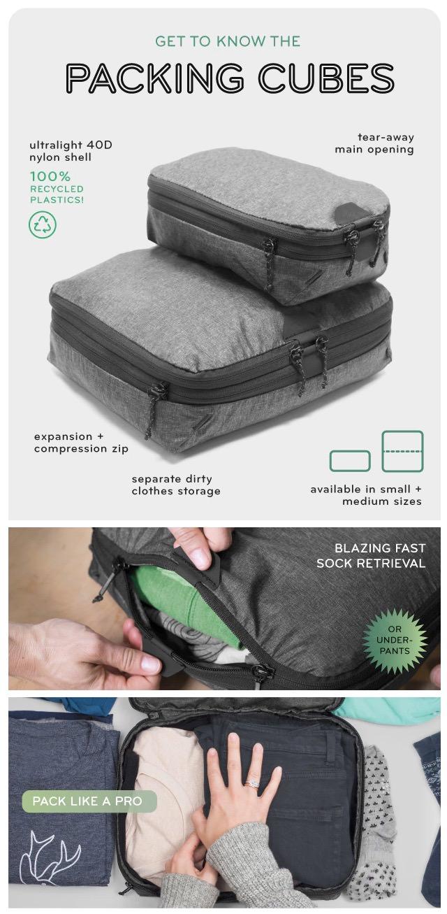 Packing Cubes パッキングキューブ 機能・特徴