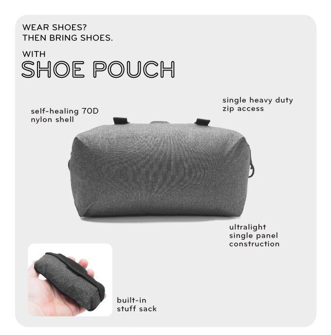 Peak Design Shoe Pouch ピークデザインのTravel Lineからシューポーチ