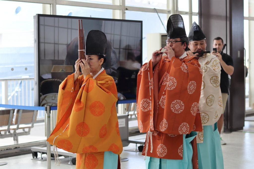 神戸ポートターミナルにて雅楽演奏