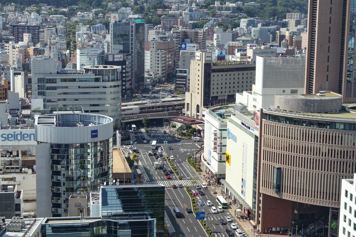 神戸市役所24階展望フロアからの眺め 山側 北側