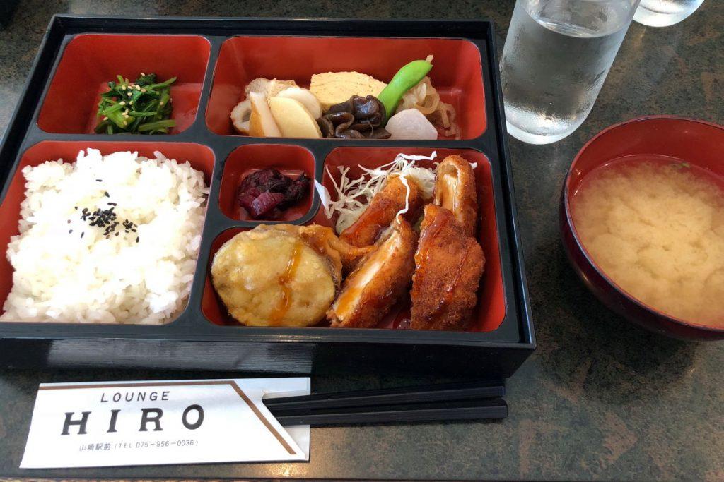 レストラウンジ ヒロの日替わり定食 チキンカツ 京都・山崎