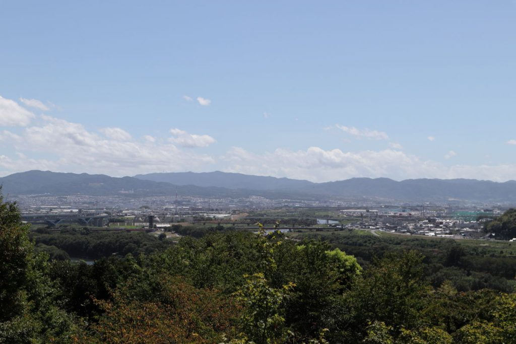 アサヒビール大山崎山荘美術館 喫茶室からの展望・景色