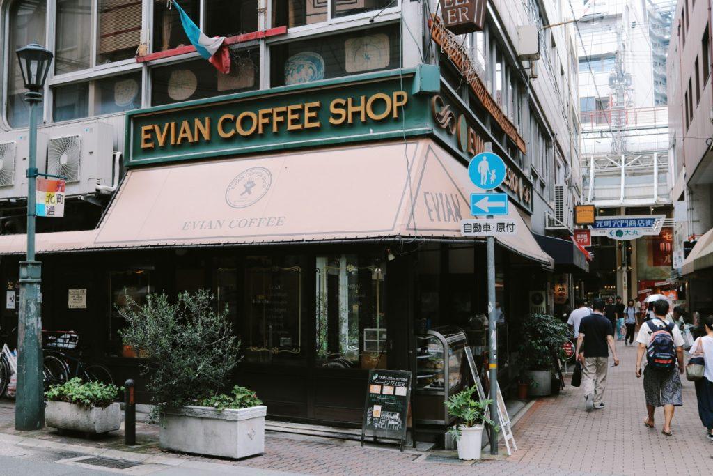 神戸エビアンコーヒー お店の外観 神戸・元町