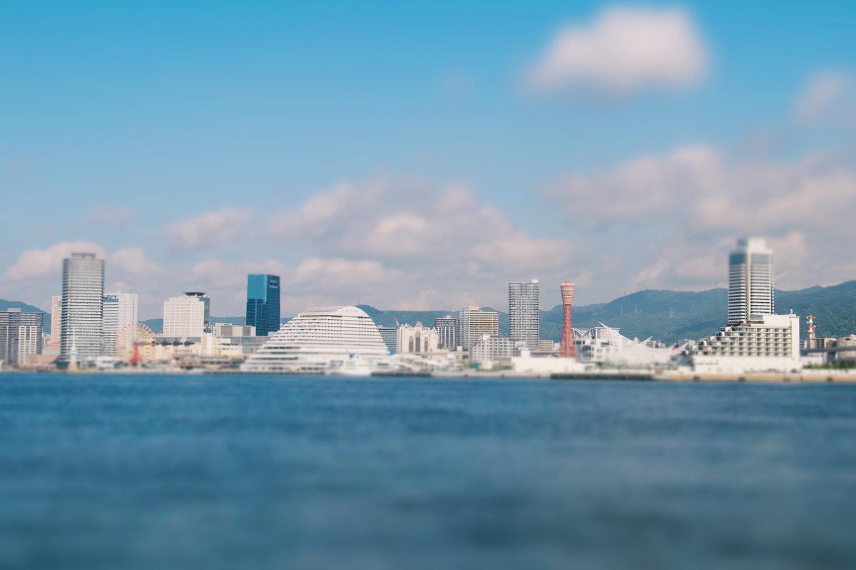 神戸の港町の景色