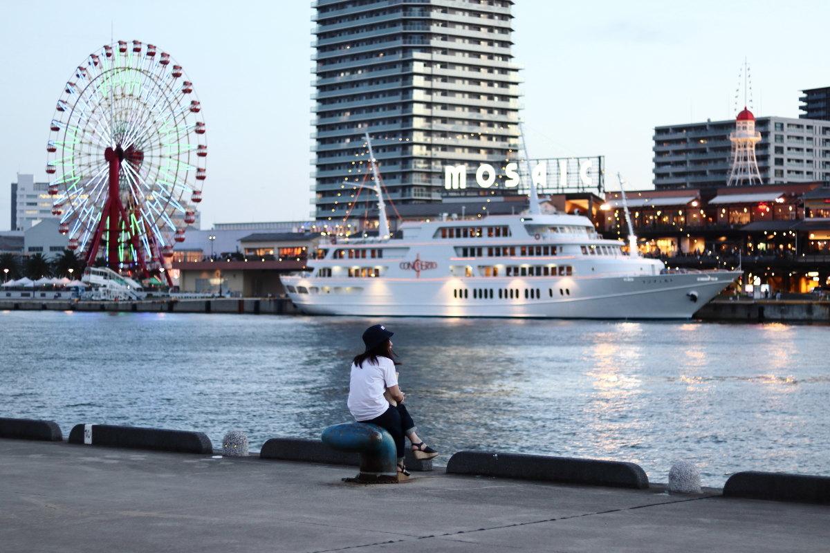 神戸ハーバーランド港の風景