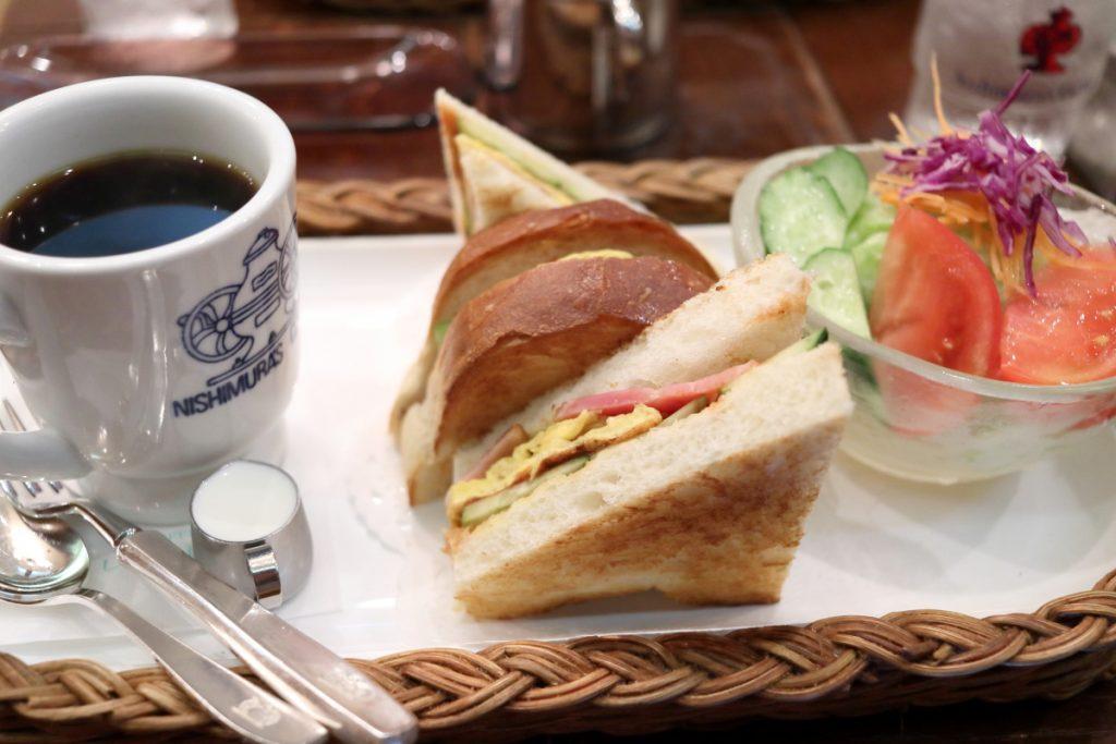 にしむら珈琲 元町店のカナディアンセット 1050円