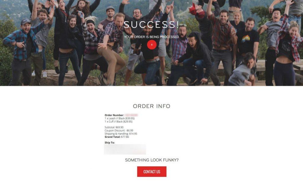ピークデザイン公式ウェブサイトの注文が完了!