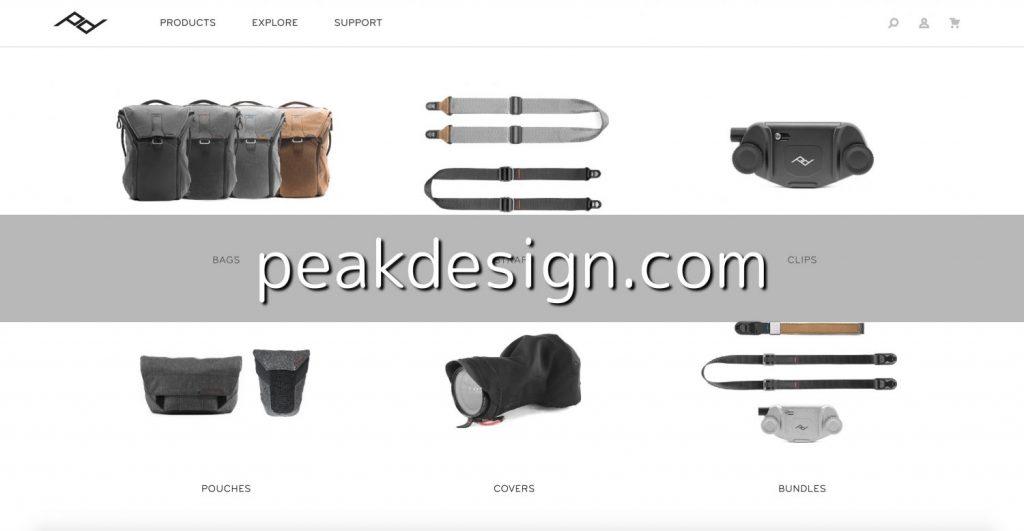 Peak Designの公式ウェブサイトで買い物する方法とメリット・デメリット