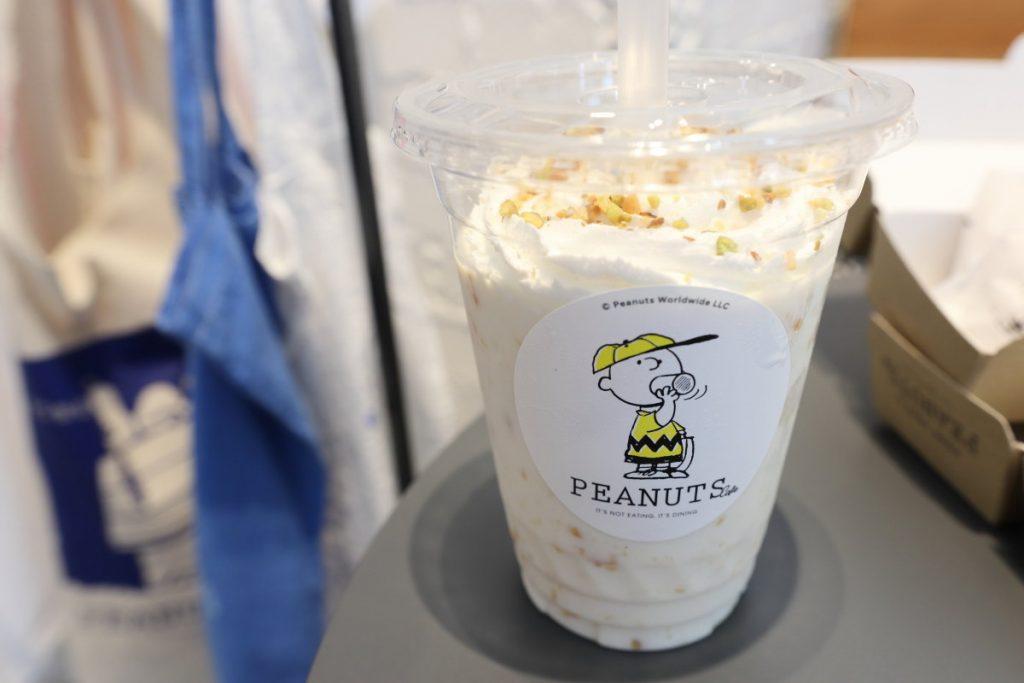 ピーナッツバターミルクセーキ PEANUTS Cafe 神戸 スヌーピーカフェ