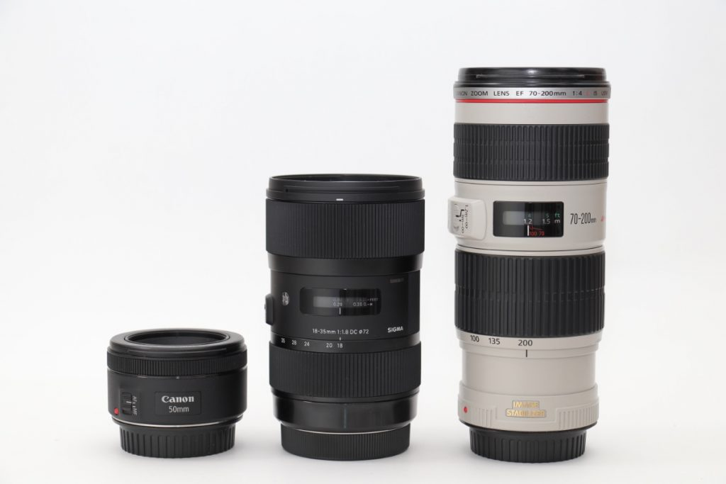 レンズ SIGMA 18-35mm F1.8 DC HSM ARTのサイズ比較