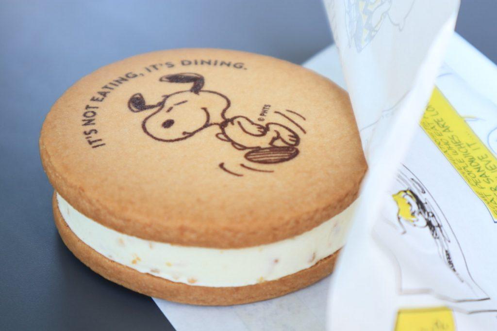 アイスサンドクッキー PEANUTS Cafe KOBE スヌーピーカフェ