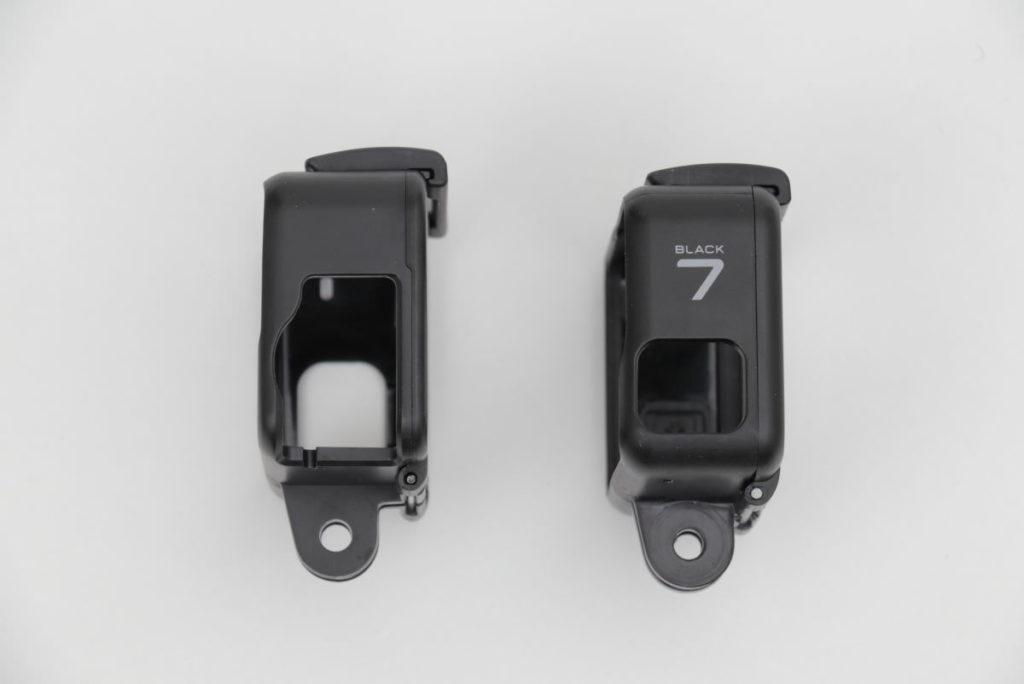 Taisioner製保護フレームとGoPro純正ケースの比較