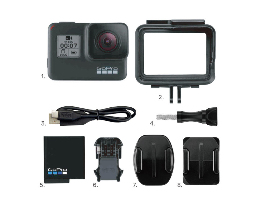 GoPro HERO7 Blackの付属品