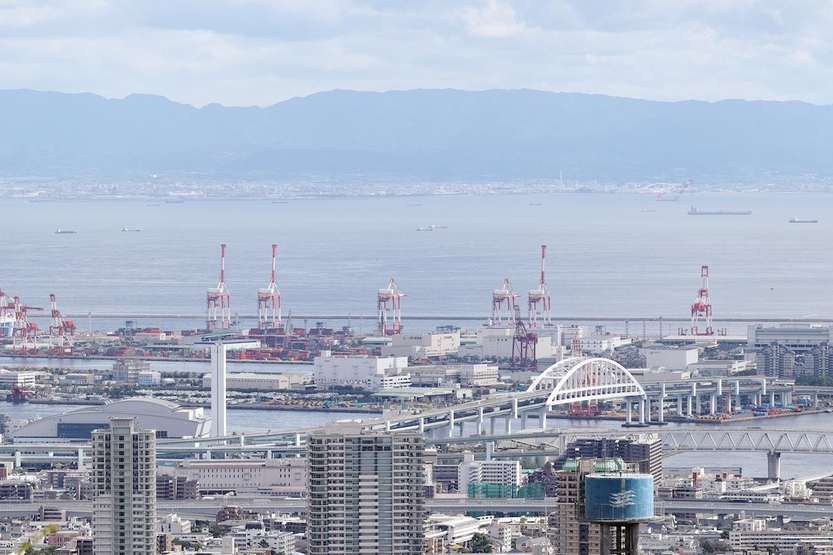 神戸の海の景色 夏