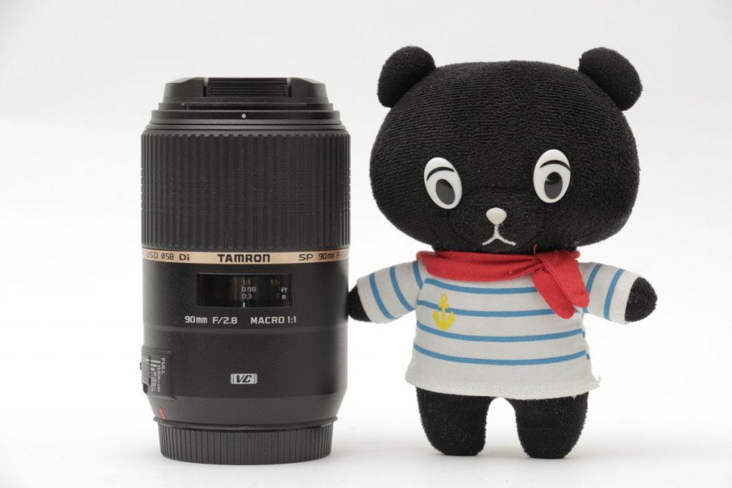 タムロン SP 90mm F2.8 Di MACRO 1:1 VC USD F004E サイズ