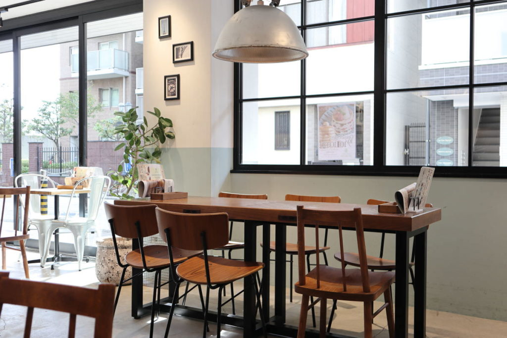 パンケーキカフェ「ベルヴィル」belle-ville 内観