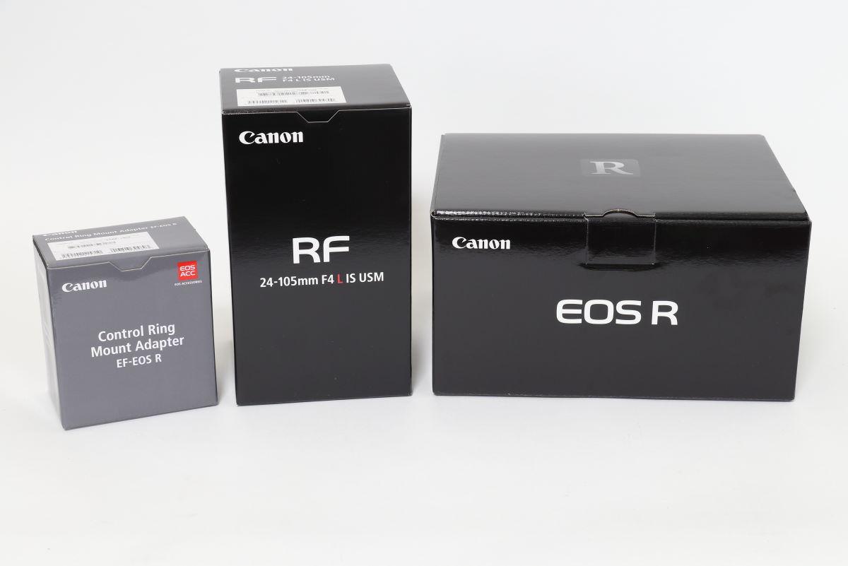 キヤノンのEOS Rなどの箱