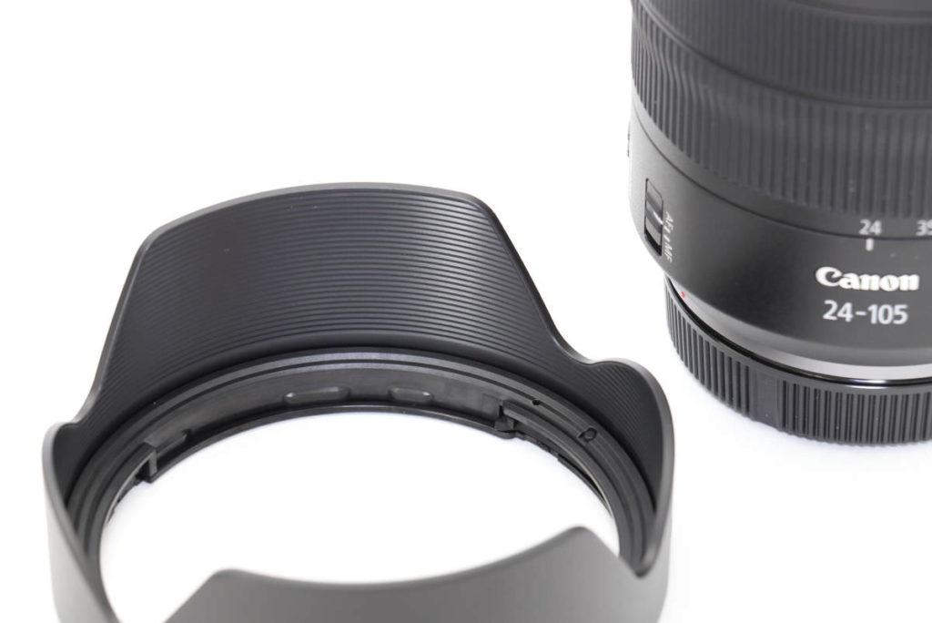 キヤノン 交換レンズ RF24-105mm F4L IS USM レンズフード外観