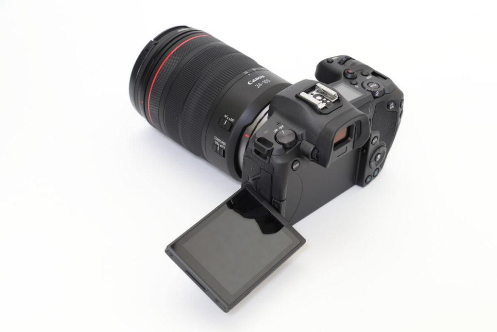 キヤノン フルサイズミラーレス一眼カメラ EOS R 交換レンズ RF24-105mm F4L IS USM 外観 バリアングルモニター