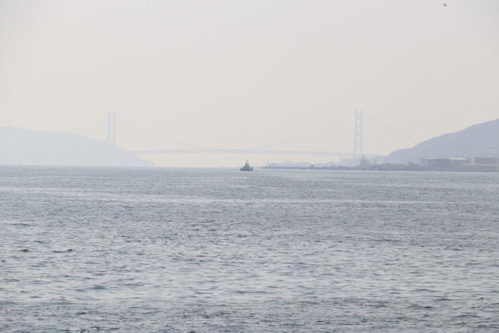 ロイヤルプリンセスから見た明石海峡大橋