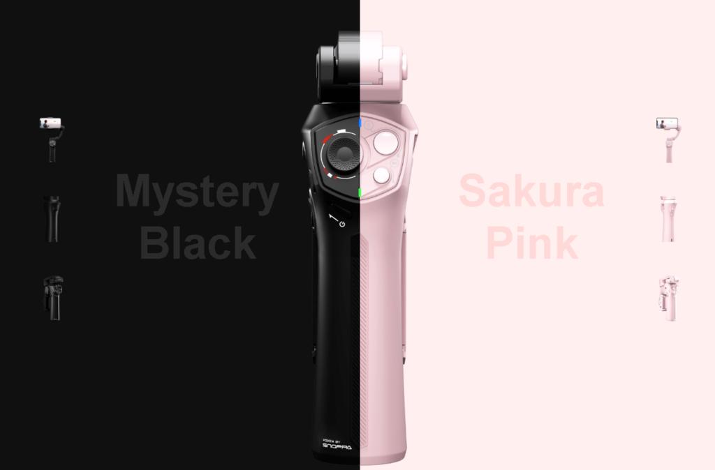 Snoppa ATOMはブラックとピンクの2色展開