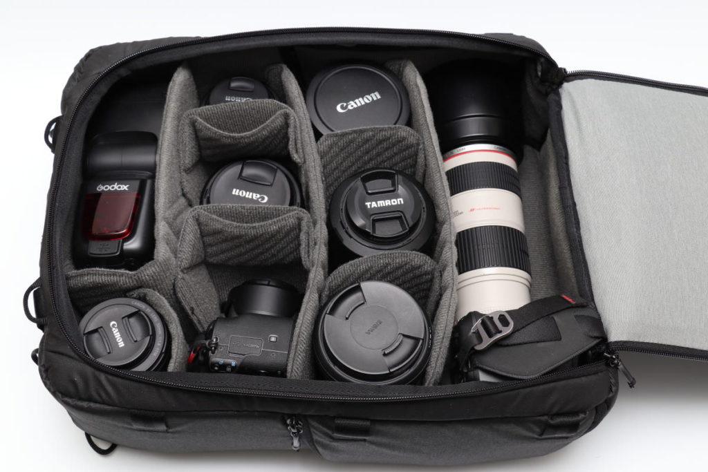 カメラキューブLのパッキング例