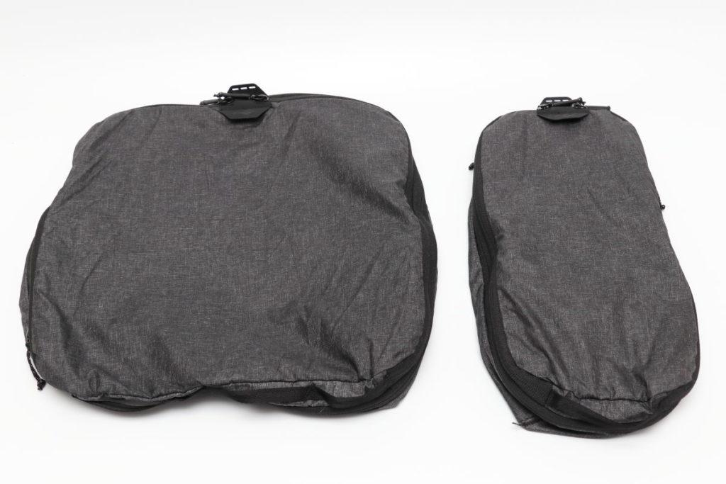 ピークデザインのパッキングキューブ スモールとミディアム