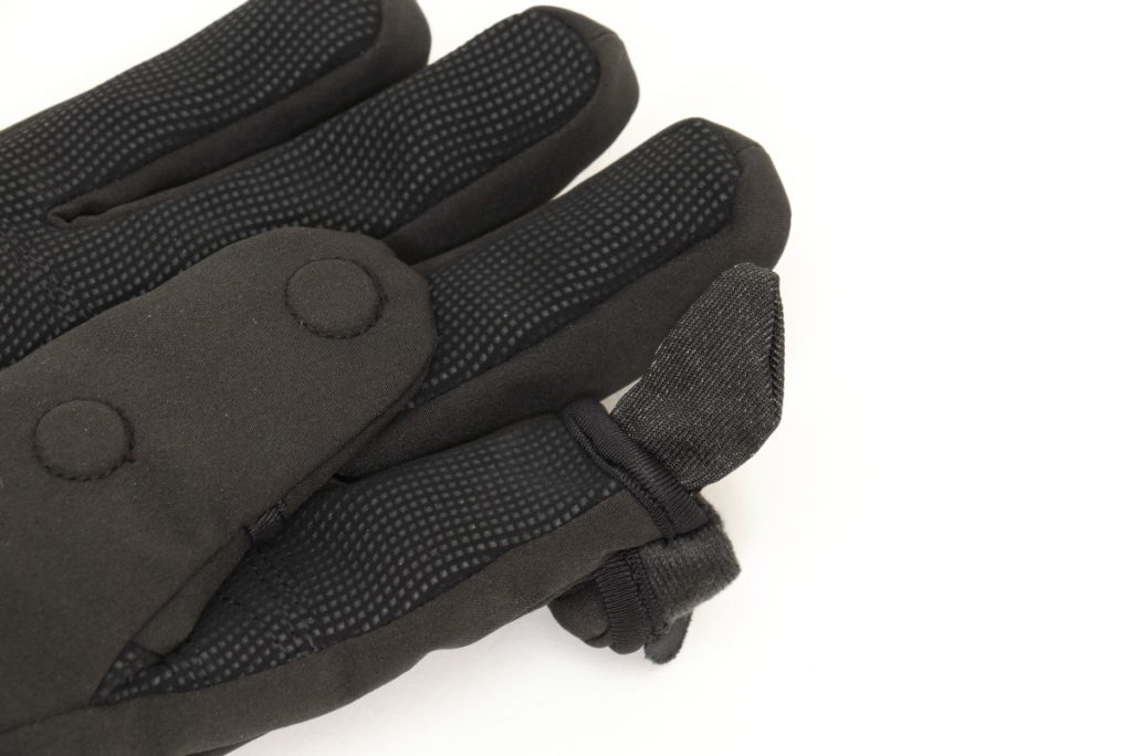 タッチパネル対応インナーキャップ freehandsメンズフォトグローブ ソフトシェル ブラック V3.5