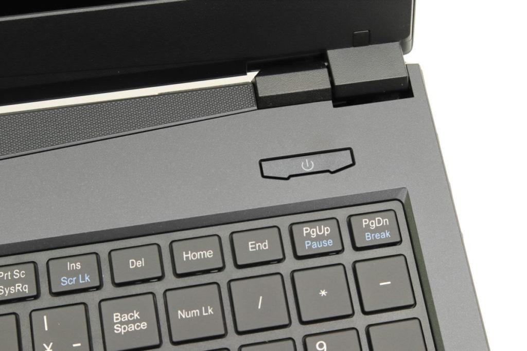 マウスコンピューター DAIV-NG5500の電源ボタン