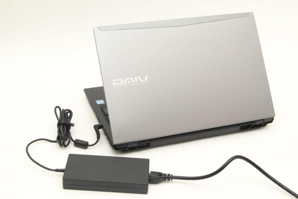 マウスコンピューター DAIV-NG5500の電源バッテリー