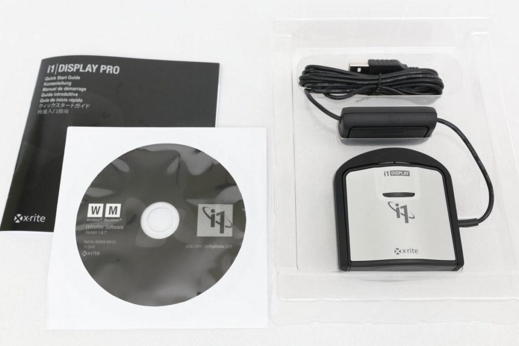 X-Rite エックスライト i1 Display Pro パッケージの中身